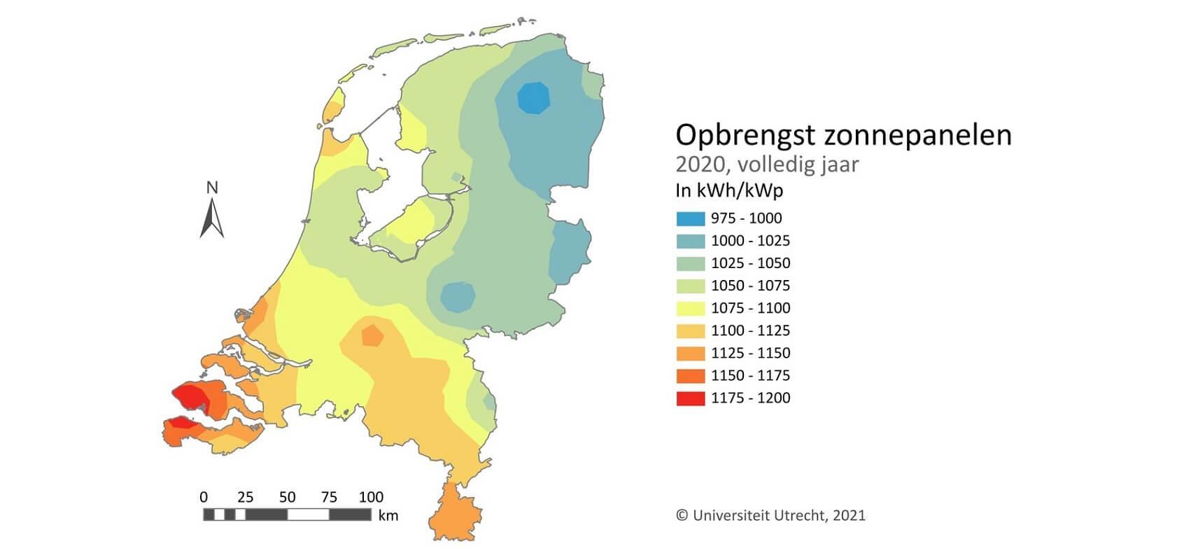 aart opbrengst zonnepanelen 2020